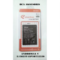 BATTERY BATERAI SMARTFREN ANDROMAX V LI3823T43P3H735350 ORIGINAL - FREE HOLDER RING