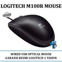 Promo Mouse Logitech M100R USB Full-size, Corded Comfort Mouse