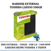 Promo HDD External TOSHIBA Canvio Basic 3.0 Portable Harddisk 500GB
