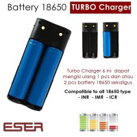 Eser 6 Dual 18650 Turbo Charger - Battery Baterai Slot Mod Rda Vape