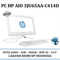 Promo PC HP AIO 3JU65AA HP 20-C414D - 4GB - 500GB - WIN 10 - 19.5