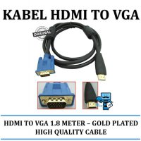 Promo Kabel HDMI to VGA 1,8 Meter Gold Plated - Original