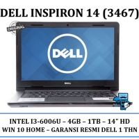 Promo Notebook / Laptop Dell Inspiron 143467 - Intel i3-6006u - RAM 4GB