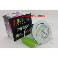 Lampu Ceiling Downlight LED COB 7 watt Adjustable ( Cahaya Putih )