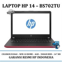 Promo Laptop / Notebook HP 14-bs702TU Red 3PN38PA#AR6/ 4GB-WIN 10 HOME