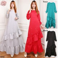 SB Collection Gamis Maxi Dress Talitha Longdress Terusan Casual Polos Wanita