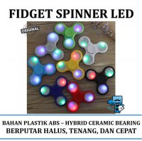 Promo Fidget Spinner LED / Lampu Original