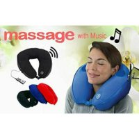 NECK MASSAGE CUSHION WITH MP3 - BANTAL ALAT PIJAT LEHER DENGAN MP3