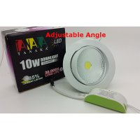 Lampu Ceiling Downlight LED COB 10 watt Adjustable ( Cahaya Putih )