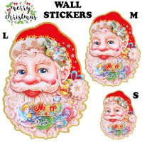Dekorasi Dinding Christmas Santa Claus Sticker Dinding 2 Pc Set (Small) - HO3479