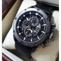 Jam Tangan Alexandre Christie AC 6416MC Grey Leather Black Original