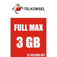 TELKOMSEL PAKET DATA FULLMAX KUOTA 3GB, 24JAM 30HARI