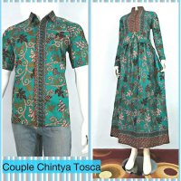 Sarimbit couple gamis chintya batik pekalongan