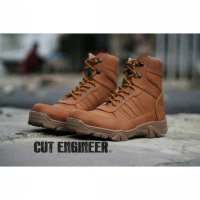 Sepatu boot safety ujung besi cut engineer delta / Safety shoes steel toe cap