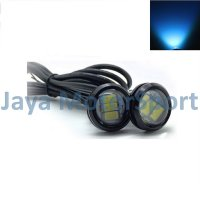 Lampu LED Mobil / Motor / Eagle Eye DRL Black Housing 3 SMD 10W 23MM - Ice Blue