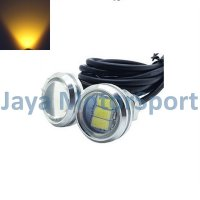 Lampu LED Mobil / Motor / Eagle Eye DRL White Housing 3 SMD 10W 23MM - Yellow