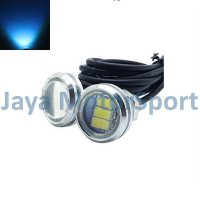 Lampu LED Mobil / Motor / Eagle Eye DRL White Housing 3 SMD 10W 23MM - Ice Blue