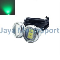 Lampu LED Mobil / Motor / Eagle Eye DRL White Housing 3 SMD 10W 23MM - Green