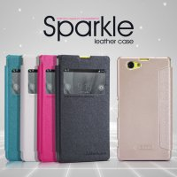Case Sony Xperia Z1 Compact Nillkin Sparkle Leather (Flip Cover)