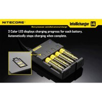[NITECORE] i4 CHARGER battery VAPORIZER Microprocessor Controlled