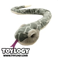 Boneka Hewan Ular Abu ( Gray Stuffed Plush Animal Snake