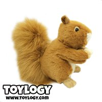 Boneka Hewan Tupai Coklat Brown Stuffed Plush Animal Sq