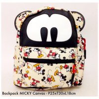 Tas Ransel Backpack Mickey Canvas - 1
