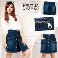 SB Collection Celana Pendek Bethany Hotpants Jumbo Jeans Rok Wanita