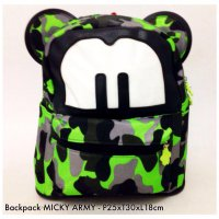 Tas Ransel Backpack Mickey Canvas - 4