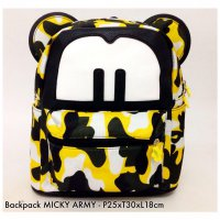 Tas Ransel Backpack Mickey Canvas - 6
