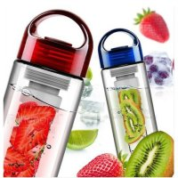 Botol Tritan Infused Water Bottle With Fruit Infuser BPA Free