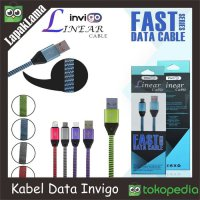 Kabel Data Chargeran Invigo Linear V8/6500C Micro USB 2A Fast Charging