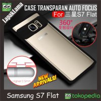 Auto Focus Transparan Case Samsung Galaxy S7 Flat G930F Softcase Back