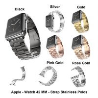 Apple Watch iWatch 42 mm 42mm Series 1 & 2 - Strap Stainless Steel Polos Tali Jam Band Smart Watch