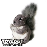 Boneka Hewan Tupai ( Gray Squirrel Doll ) 6 inch