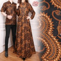 SB Collection Couple Dress Maxi Agnes Longdress Gamis Dan Kemeja Batik Pria