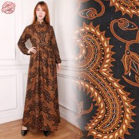SB Collection Dress Maxi Astri Longdress Gamis Terusan Batik Wanita