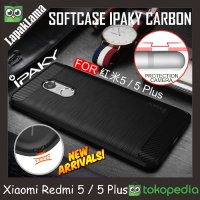 Case iPaky Carbon For Xiaomi Redmi 5 Softcase Back Carbon Casing Cover