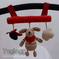 Rattle Animal Red Doll ( Boneka Gantung )