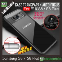 Case Auto Focus Transparan Samsung Galaxy S8 Softcase Back Acrylic TPU