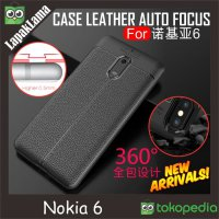 Case Leather Auto Focus Original Nokia 6 Softcase Back Cover Casing