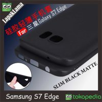 Case Slim Black Matte Samsung Galaxy S7 Edge Softcase Silicone Matte