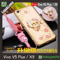 Soft Case Flower Swarovski Diamond iRing Vivo V5 Plus / X9 Cover Case