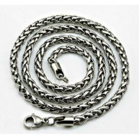 Men's Jewellery Twist 9mm Chain Necklace Titanium Steel - Kalung Pria