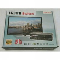 Hdmi Switch 3x1 Gaintech + Adaptor / Switcher 1 - 3 Port + Remot 3port