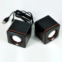 Universal Speaker USB 2.0 Mini Sound Box for Laptop and Computer(Hitam)