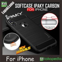 Case iPaky Carbon iPhone 6 6S 6G Softcase Back Carbon