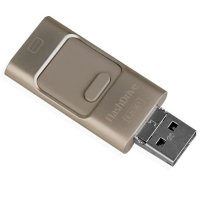 4connect 3 in 1 Flashdisk 16GB OTG for Android / Window / IOS - Gold
