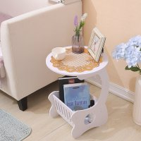 Organizer Table Meja Kopi Mini MH521 Round Coffee Table Meja Ngopi Bulat ukuran lebih besar MEGAHOME