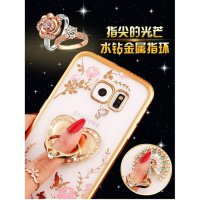 Soft Case Flower Swarovski Diamond IRing Samsung Galaxy S7 Flat G930F